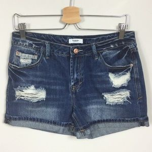Kensie distressed jean shorts Sz 4/27
